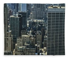 Manhattan From Above Fleece Blanket