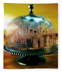 Manhattan Under The Dome Fleece Blanket