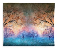 Many Moons Fleece Blanket