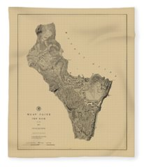 Map Of West Point 1883 Fleece Blanket