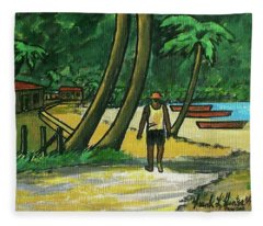 Maracas Bay Trinidad Fleece Blanket