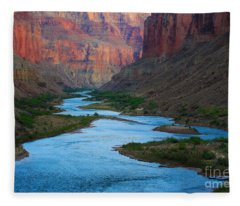 Marble Canyon Rafters Fleece Blanket