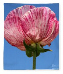 Marbled Mable Ranunculus Flower By Diana Sainz Fleece Blanket