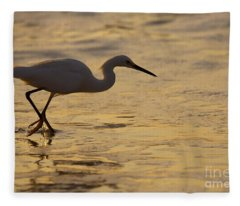 March Of The Egret Fleece Blanket