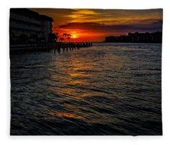 Marco Island Sunset 43 Fleece Blanket