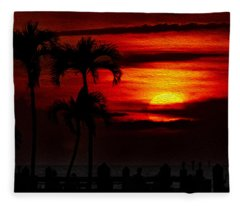 Marco Island Sunset 59 Fleece Blanket