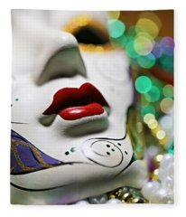 Mardi Gras II Fleece Blanket