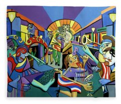 Mardi Gras Lets Get The Party Started Fleece Blanket