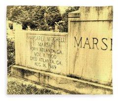 Margaret Mitchell Grave Fleece Blanket