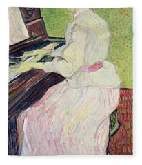 Marguerite Gachet At The Piano Fleece Blanket