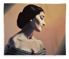 Maria Callas Painting Fleece Blanket