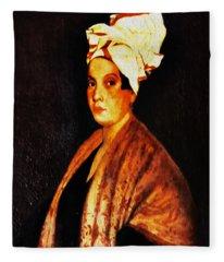 Marie Laveau - New Orleans Witch Fleece Blanket