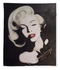 Marilyn In The Moonlight Fleece Blanket