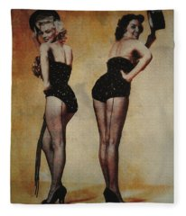 Marilyn Monroe And Jane Russell Fleece Blanket