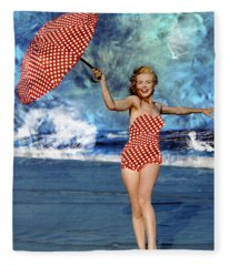 Marilyn Monroe - On The Beach Fleece Blanket