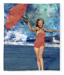 Marilyn Monroe - On The Beach Fleece Blanket