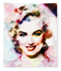 Marilyn Monroe Pastel Fleece Blanket