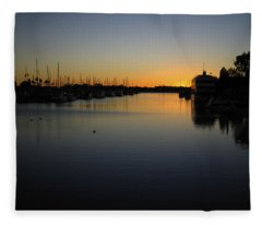 Marina Del Rey Sunset Fleece Blanket