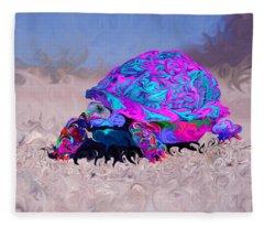 Marine Corporal's Turtle In Peace Paint V2 Fleece Blanket