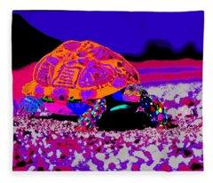 Marine Corporals Turtle In Peace Paint V3 Fleece Blanket