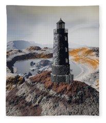 Marine Memory - Surrealism Fleece Blanket