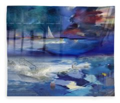 Maritime Fantasy Fleece Blanket