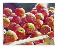 Market Apples Fleece Blanket