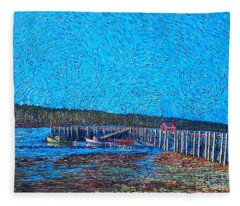 Market Wharf St. Andrews Nb Fleece Blanket