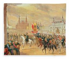 Marriage Of Tsar Nicholas II Fleece Blanket