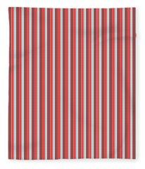 Marsala Stripe 2 Fleece Blanket