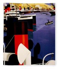 Marseille France Fleece Blanket