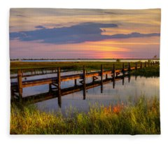 Marsh Harbor Fleece Blanket