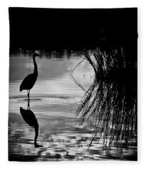 Marsh Reflection Fleece Blanket