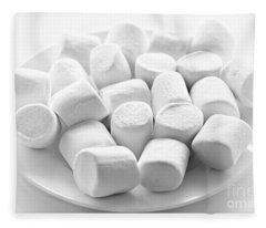 Marshmallows On Plate Fleece Blanket