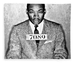 Martin Luther King Mugshot Fleece Blanket