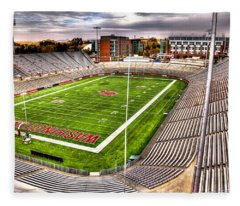 Martin Stadium At Washington State Fleece Blanket