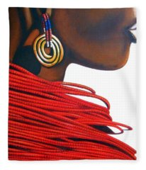 Masai Bride - Original Artwork Fleece Blanket
