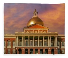 Massachusetts State House Fleece Blanket