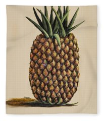 Fleece Blanket featuring the painting Maui Pineapple 3 by Darice Machel McGuire