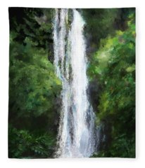 Maui Waterfall Fleece Blanket