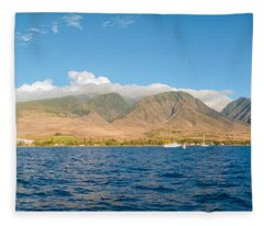 Maui's Southern Mountains   Fleece Blanket