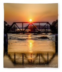 Maumee River At Grand Rapids Ohio Fleece Blanket