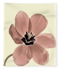 Mauve Tulip Transparency Fleece Blanket