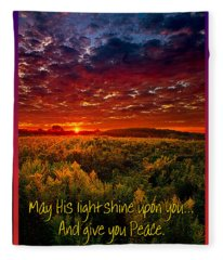 May His Light Shine On You Fleece Blanket