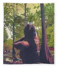 May Morning Arkansas River 5 Fleece Blanket