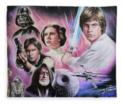 May The Force Be With You Fleece Blanket