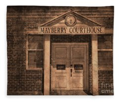 Mayberry Courthouse Fleece Blanket