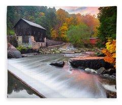 Mcconnell's Mill Fall  Fleece Blanket