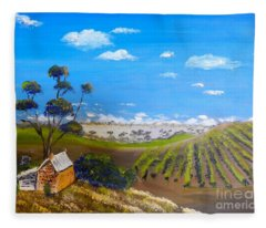 Mclarren Vale Vine Yards Fleece Blanket