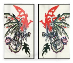 Mech Dragons Collide Fleece Blanket